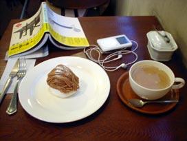 モンブランとカフェオレ