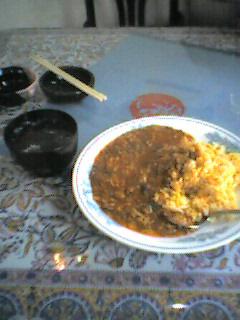 お昼ご飯の四川チャーハン