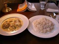 白菜と鳥肉のシチュー、うまかったー