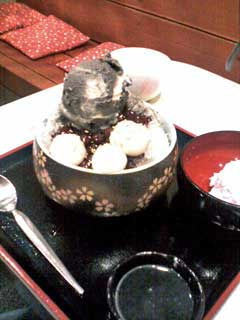 胡麻ミルク(かき氷)
