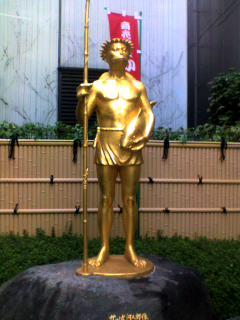 黄金のカッパ像