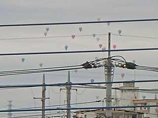…気球でした